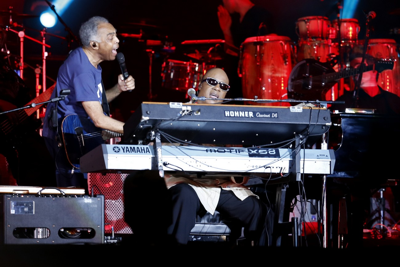 Gilberto Gil e Stevie Wonder