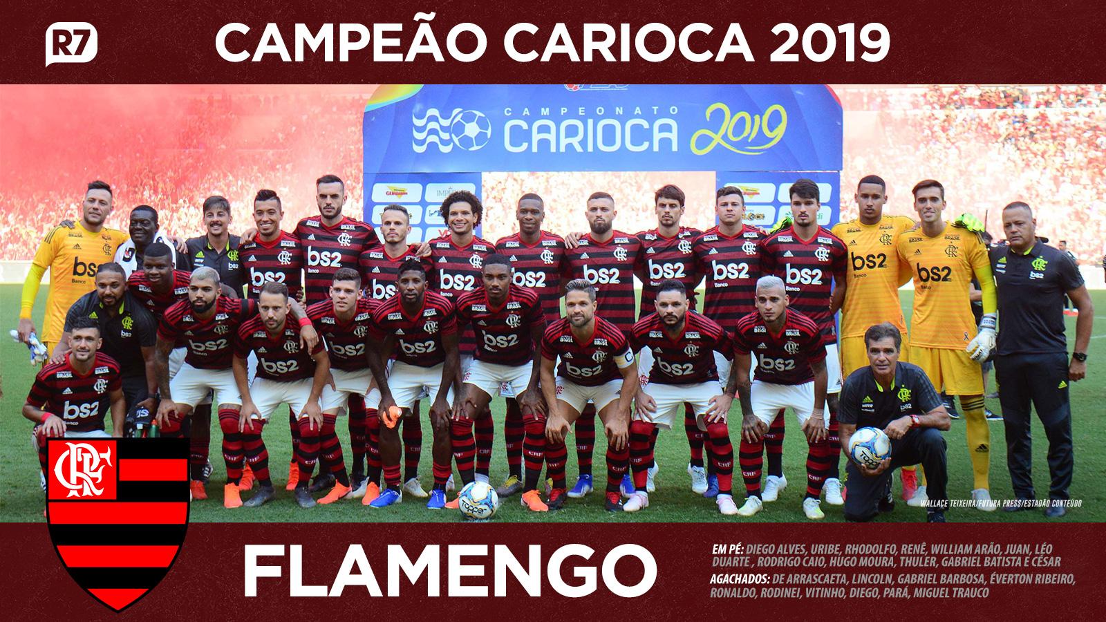 Baixe O Pôster Do Flamengo Campeão Carioca De 2019